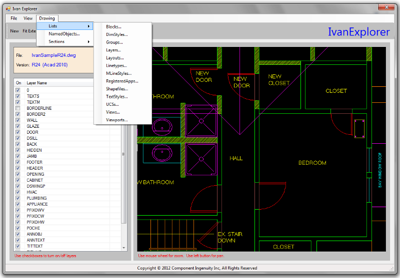 Click to view Ivan R CAD Library screenshots